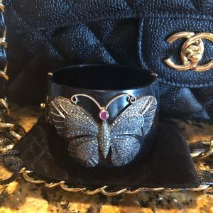 Butterfly black diamond Cuff